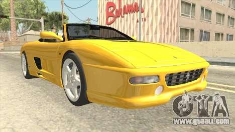 Ferrari F355 Spider for GTA San Andreas right view