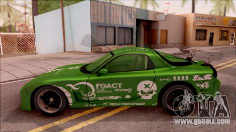 Mazda RX-7 NFS Undercover Vinyl for GTA San Andreas left view