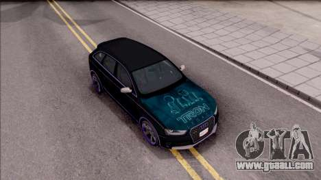 Audi RS4 Avant Edition Tron Legacy for GTA San Andreas right view