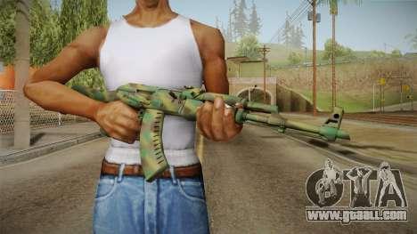 CS: GO AK-47 Jungle Spray Skin for GTA San Andreas third screenshot