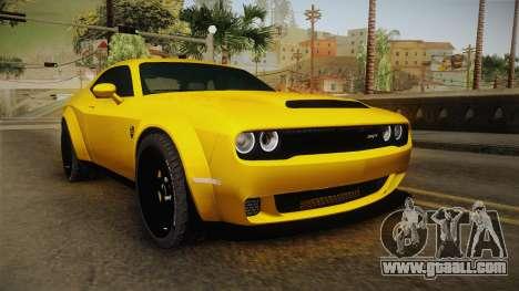 Dodge Challenger Demon 2018 for GTA San Andreas