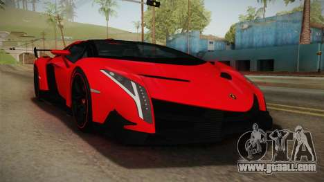 Lamborgini Veneno Roadster 2014 IVF v2 for GTA San Andreas
