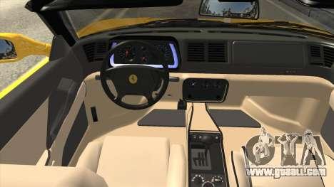 Ferrari F355 Spider for GTA San Andreas inner view