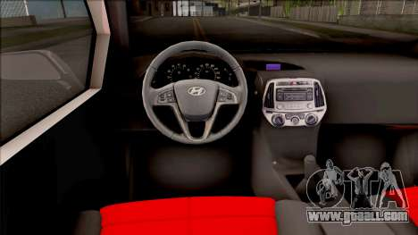 Hyundai i20 for GTA San Andreas inner view