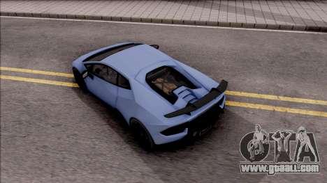 Lamborghini Huracan Performante for GTA San Andreas back view