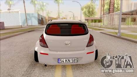 Hyundai i20 for GTA San Andreas back left view
