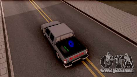 Nissan Ddsen Skrab 2016 for GTA San Andreas back view