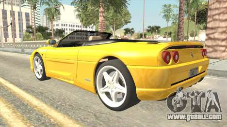 Ferrari F355 Spider for GTA San Andreas left view