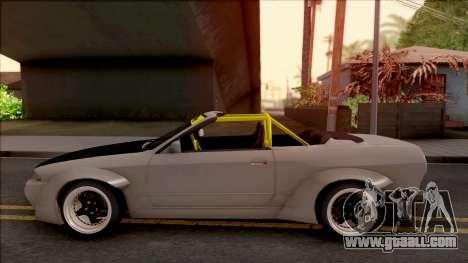 Nissan Skyline R32 Cabrio Drift Rocket Bunny for GTA San Andreas left view