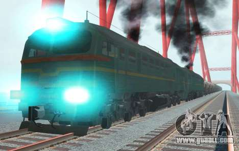 Freight Locomotive 2M62 1184 Masha for GTA San Andreas right view