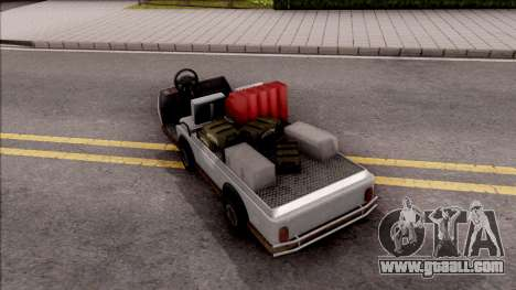 Caddy from GTA 5 DLC GunRunning for GTA San Andreas left view
