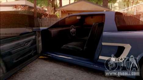 BlueRay Dodge Infernus for GTA San Andreas inner view