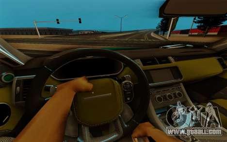 Range Rover SVR for GTA San Andreas inner view
