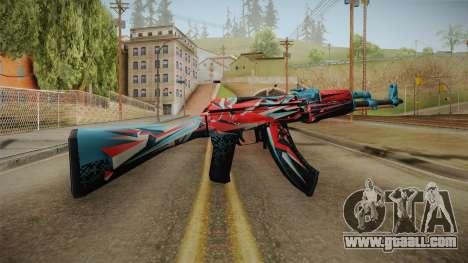 CS: GO AK-47 Point Disarray Skin for GTA San Andreas second screenshot