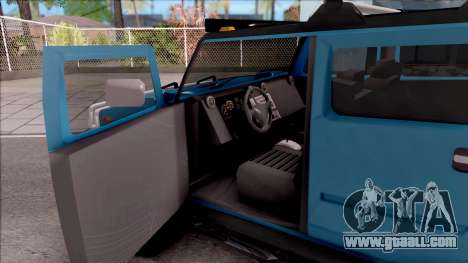 Hummer H2 Sut 4x4 for GTA San Andreas inner view