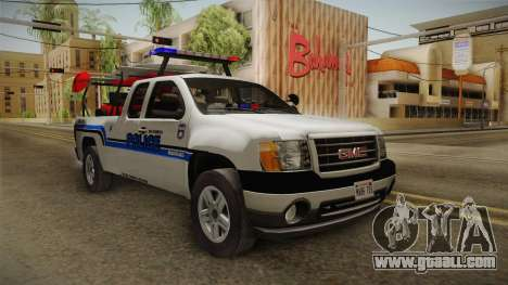 GMC Sierra San Andreas Police Lifeguard 2010 for GTA San Andreas right view