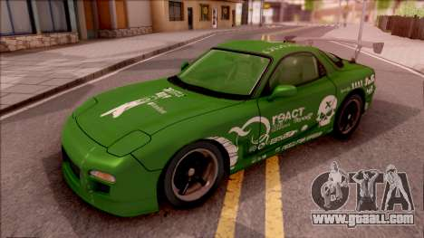 Mazda RX-7 NFS Undercover Vinyl for GTA San Andreas