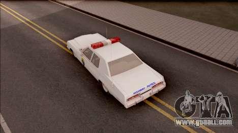 Dodge Monaco Montana Highway Patrol v2 for GTA San Andreas back view