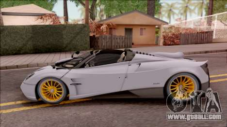Pagani Huayra Roadster 2017 for GTA San Andreas left view