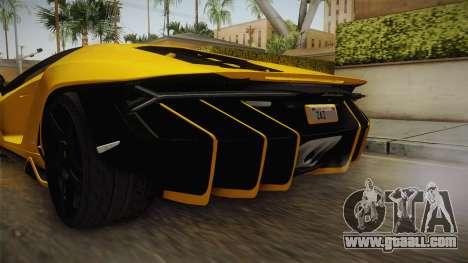 Lamborghini Centenario LP770-4 v1 for GTA San Andreas bottom view