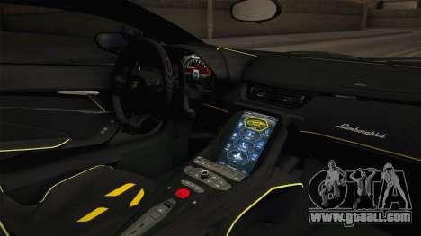 Lamborghini Centenario LP770-4 v1 for GTA San Andreas inner view