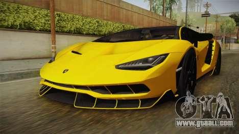 Lamborghini Centenario LP770-4 v1 for GTA San Andreas right view