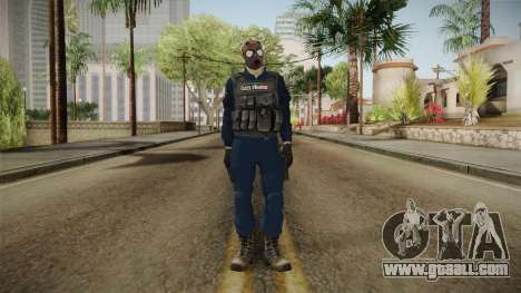 Turkish Police-Rapid Response Unit with Gasmask for GTA San Andreas second screenshot