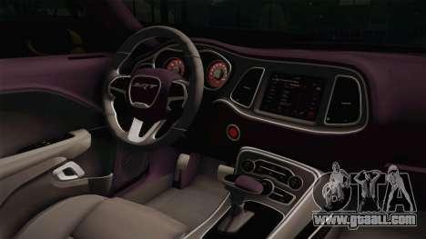 Dodge Challenger Demon 2018 for GTA San Andreas inner view