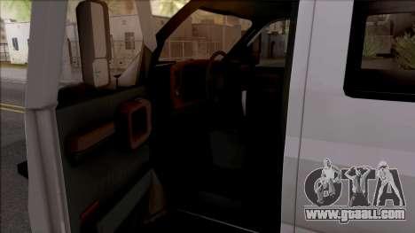 GMC Topkick C4500 Off-Road for GTA San Andreas inner view