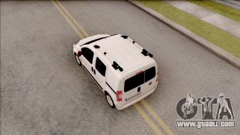Fiat Fiorino for GTA San Andreas back view