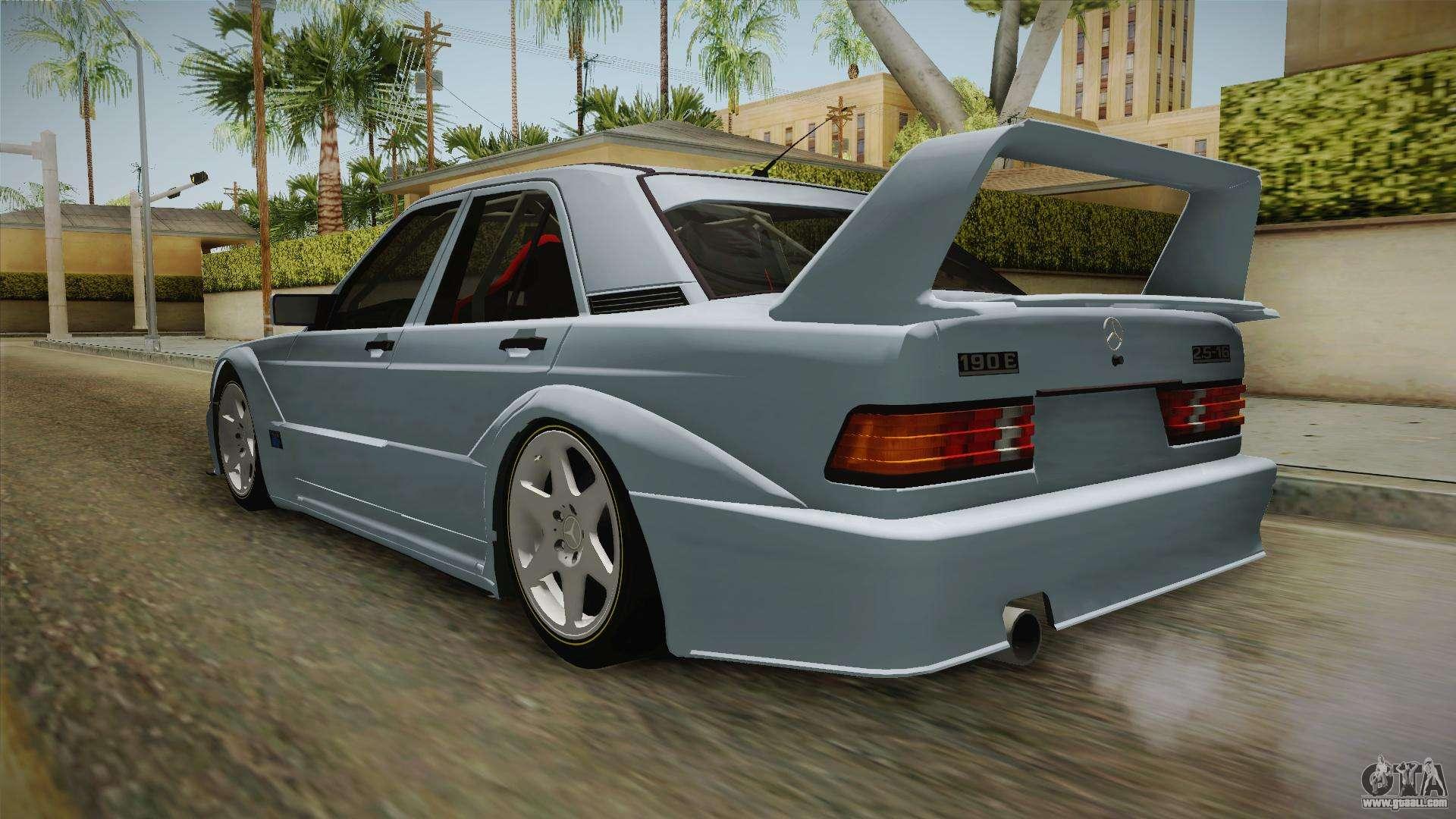 Mercedes benz w201 190e for gta san andreas for 190e mercedes benz