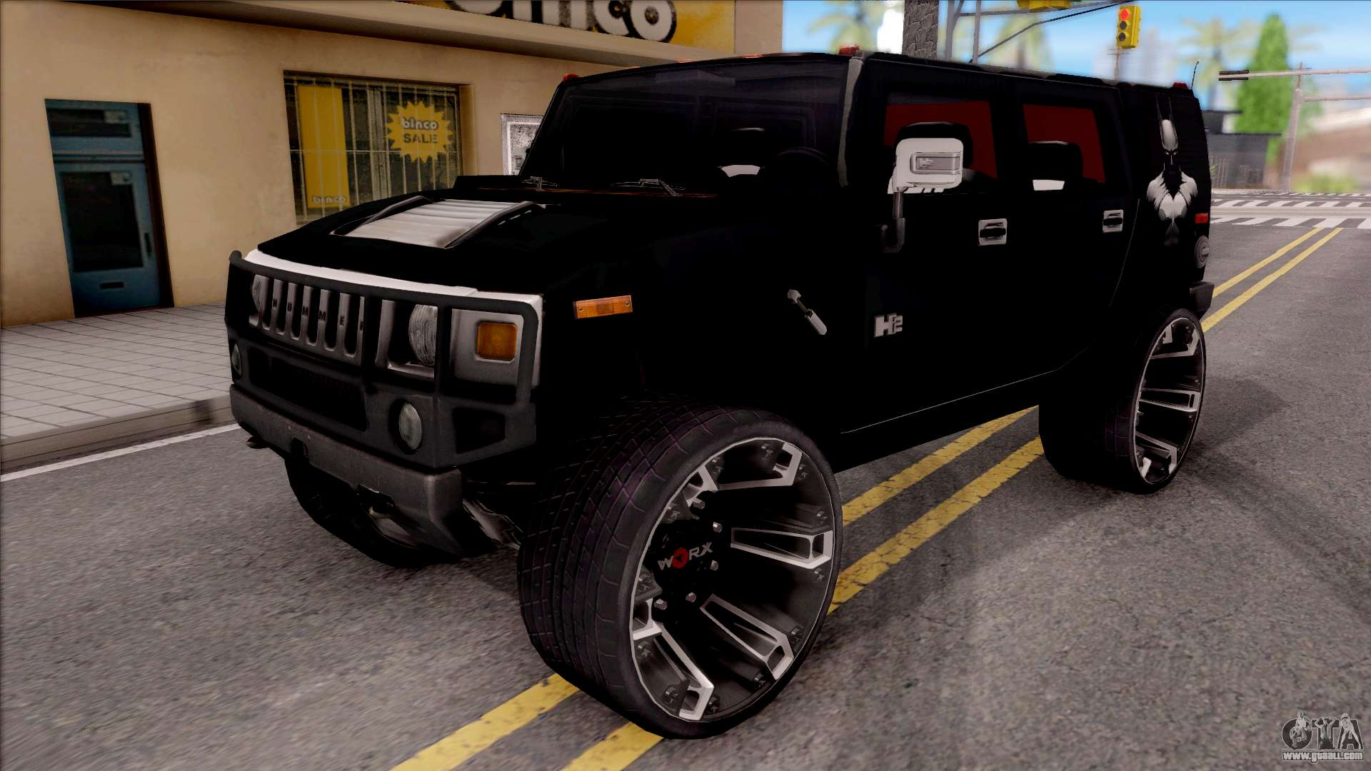 hummer h2 batman edition for gta san andreas. Black Bedroom Furniture Sets. Home Design Ideas