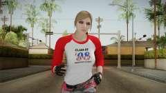 Gun Running Female Skin Red for GTA San Andreas