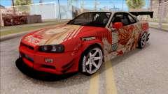 Nissan Skyline GT-R R34 RB Itasha Yuuki Asuna for GTA San Andreas