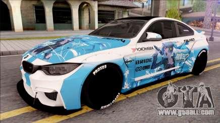 BMW M4 Itasha Hatsune Miku 2017 Liberty Walk for GTA San Andreas