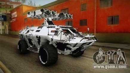 APC GTA 5 GunRunning Custom Turret for GTA San Andreas