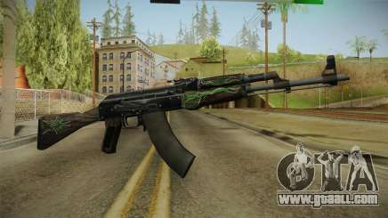 CS: GO AK-47 Emerald Pinstripe Skin for GTA San Andreas