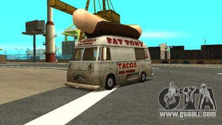 HotDog Fat Tony Tacos Tining 4X4 for GTA San Andreas