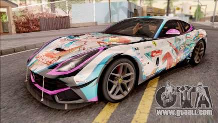 Ferrari F12 Berlinetta Noraimo Miku Racing 2016 for GTA San Andreas