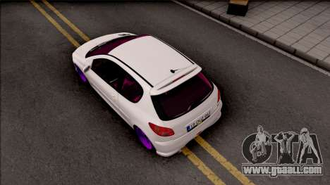 Peugeot 206 for GTA San Andreas back view