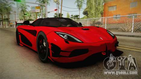 Koenigsegg Agera RS v2 for GTA San Andreas