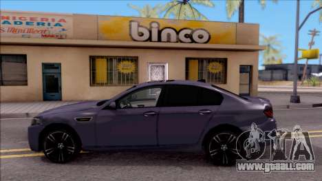 BMW M5 HQ Lowest Poly for GTA San Andreas left view