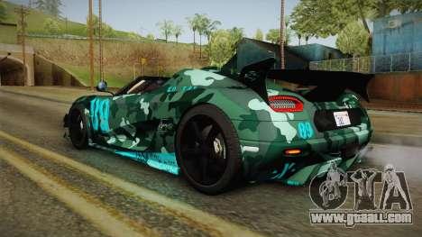 Koenigsegg Agera RS v1 for GTA San Andreas wheels