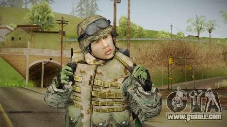 Georgian Soldier Skin v2 for GTA San Andreas