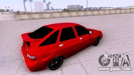 VAZ 2112 SA Plates for GTA San Andreas inner view