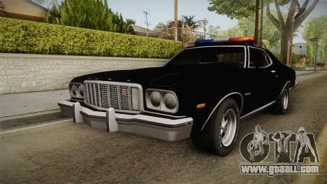 Ford Gran Torino Police LVPD 1975 for GTA San Andreas back left view