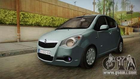 Opel Agila for GTA San Andreas back left view