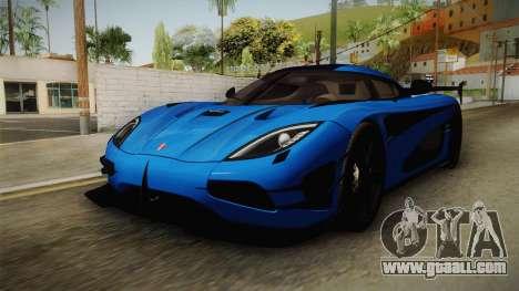 Koenigsegg Agera RS v1 for GTA San Andreas