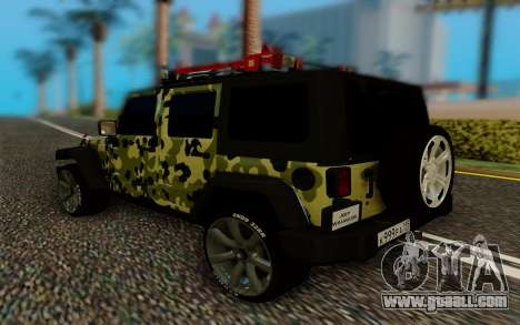 Jeep Wrangler for GTA San Andreas back left view