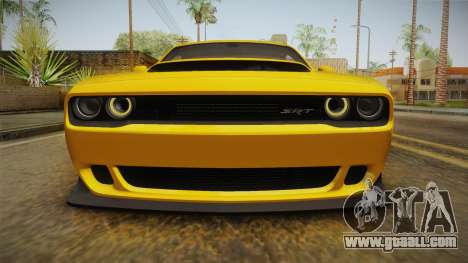 Dodge Challenger 2017 Demon for GTA San Andreas upper view